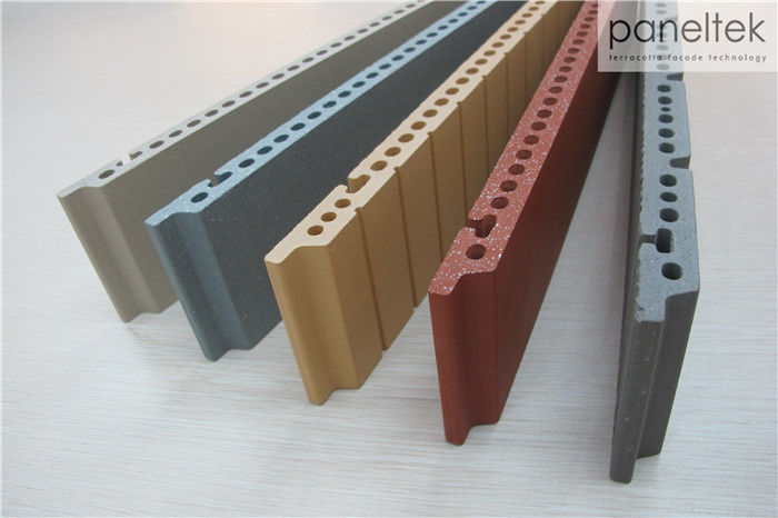 F18 Terracotta External Wall Ceramic Panels , Outside Wall Cladding Panels